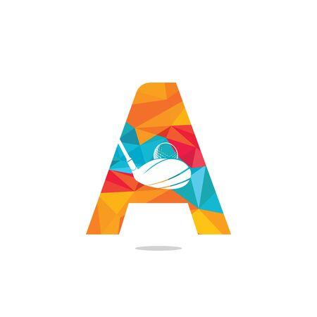 Initial letter A golf vector logo design. Golf club inspiration logo design.