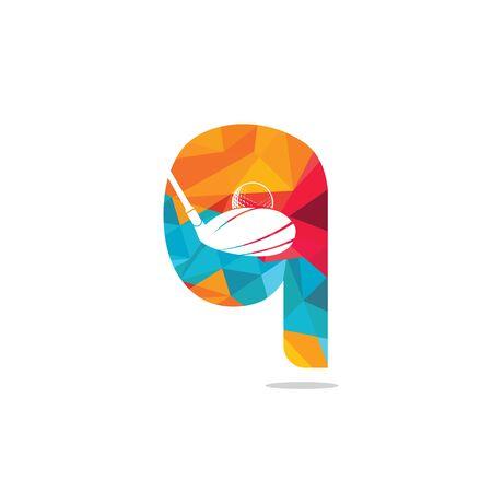 Initial letter Q golf vector logo design. Golf club inspiration logo design.