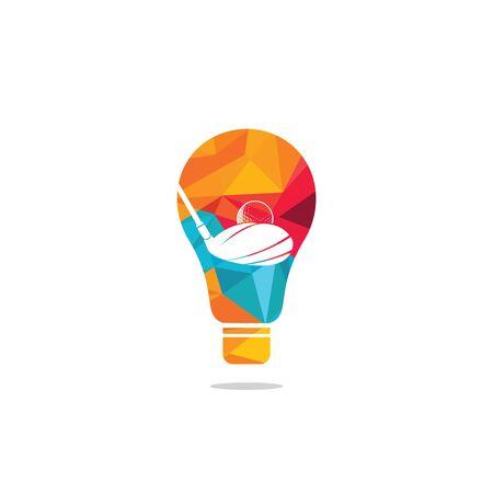 Golf club bulb shape logo design. Golf club inspiration logo design. Creative golf ideas sign. Reklamní fotografie - 133010577
