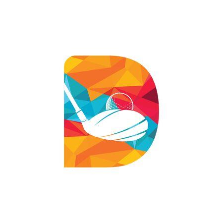 Initial letter D golf vector logo design. Golf club inspiration logo design.