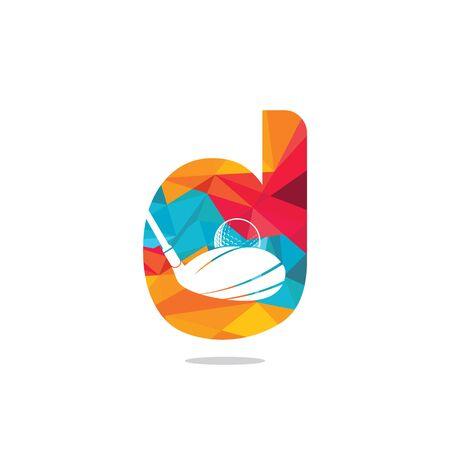 Initial letter D golf vector logo design. Golf club inspiration logo design. Reklamní fotografie - 133010604