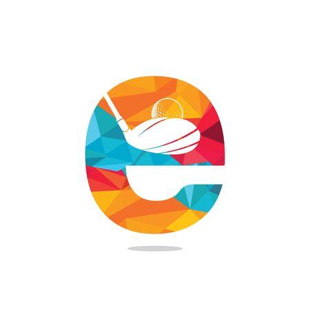 Initial letter E golf vector logo design. Golf club inspiration logo design.