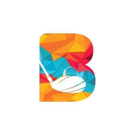 Initial letter B golf vector logo design. Golf club inspiration logo design.