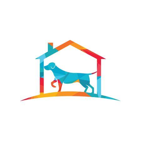 Pet home vector logo design. Pet shop logo design template.