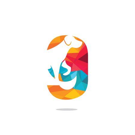 Letter G and Dog head vector logo design. Pet care logo design. Pet icon vector. Pet love logo design. Illustration