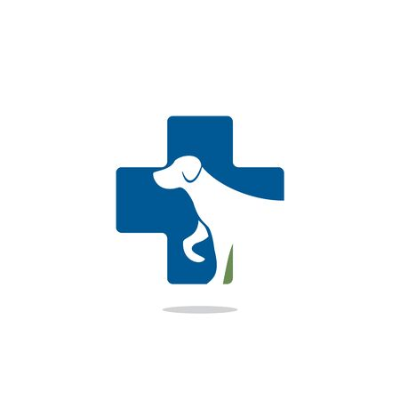 Vector logo for veterinary clinic.logo for a pet shop. logo for veterinary services. Illustration