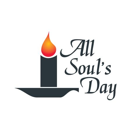 All souls day type vector design. Vector illustration of a Background for All Soul's Day. Çizim