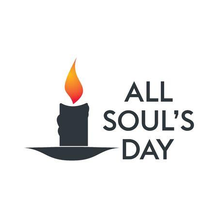 Todos los tipos de diseño vectorial del día de las almas. Ilustración de vector de un fondo para el día de todos los del alma. Ilustración de vector