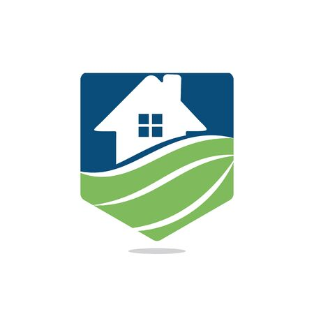 Organic House  design. House care  design. Home clean vector  concept. Çizim