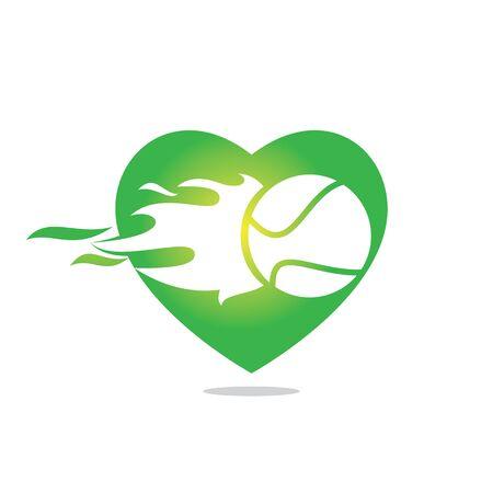 Love tennis design. Tennis sports concept. Ilustración de vector