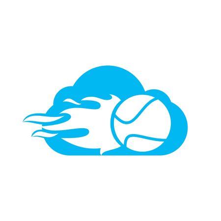 Tennis cloud vector  design. Tennis sports vector  concept.