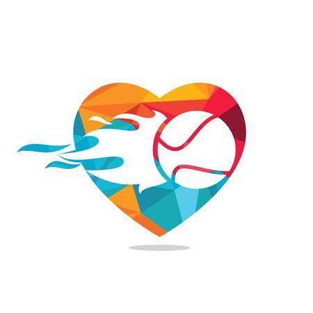 Love tennis  design. Tennis sports  concept.