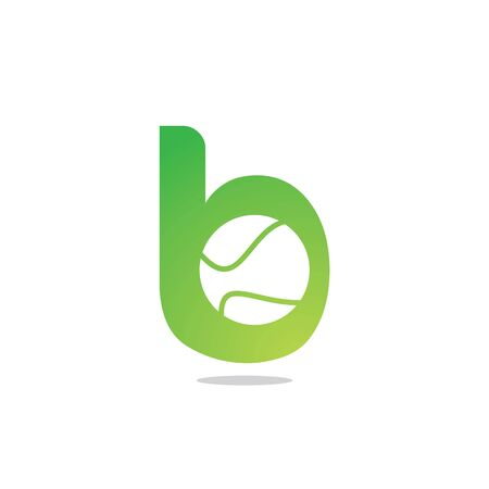 Letter B tennis vector  design. Vector design template elements for your sport team or corporate identity. Çizim