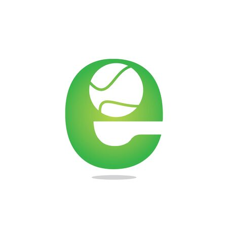 Letter E tennis vector  design. Vector design template elements for your sport team or corporate identity.