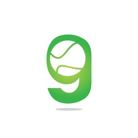 Letter G tennis vector  design. Vector design template elements for your sport team or corporate identity. Çizim