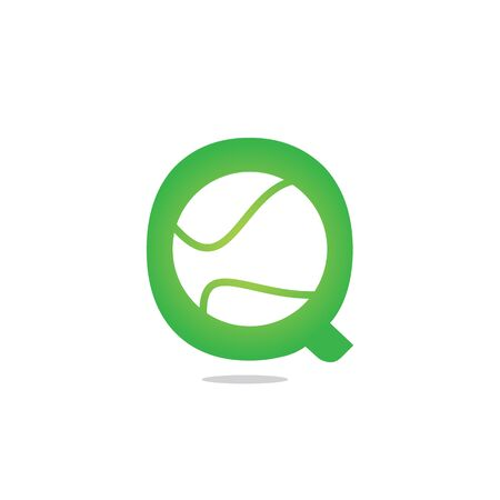 Letter Q tennis vector  design. Vector design template elements for your sport team or corporate identity. Çizim