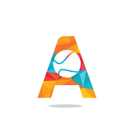 Letter A tennis vector  design. Vector design template elements for your sport team or corporate identity.