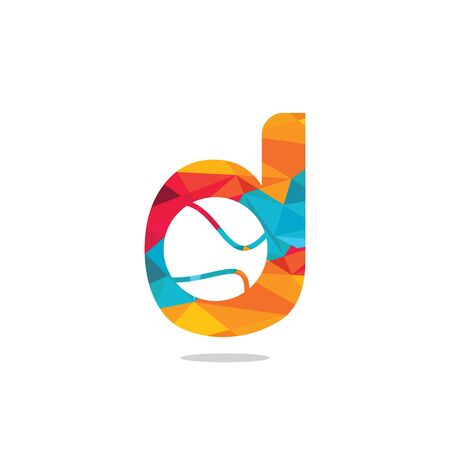 Letter D tennis vector  design. Vector design template elements for your sport team or corporate identity.