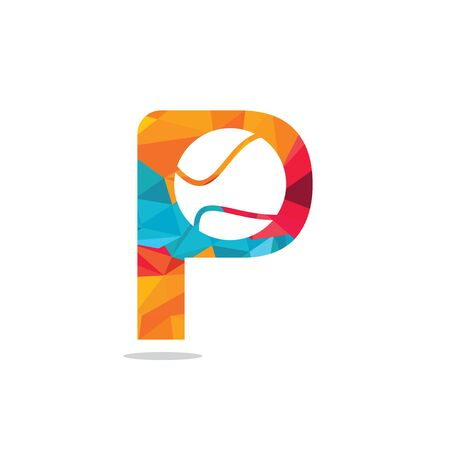 Letter P tennis vector  design. Vector design template elements for your sport team or corporate identity.