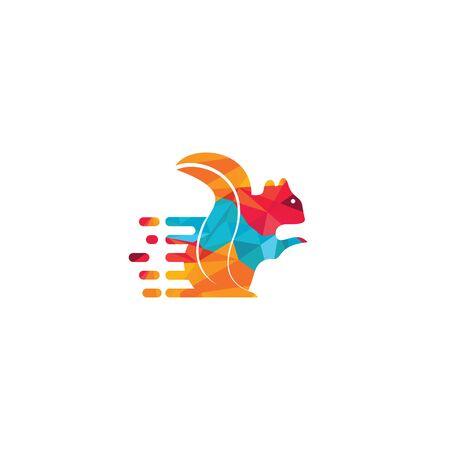 Squirrel vector logo design. Chipmunk logo design.