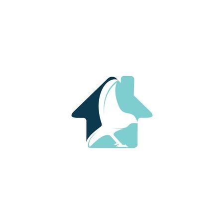 Home bird vector logo design.