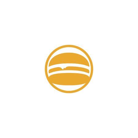 Burger vector logo design. Burger cafe logo. Illustration