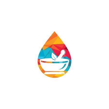 Water drop pharmacy vector logo design. Logo
