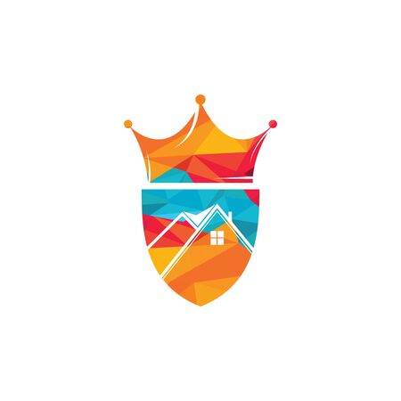 Home king vector logo design. Creative home and crown vector logo design concept. Banque d'images - 148652795