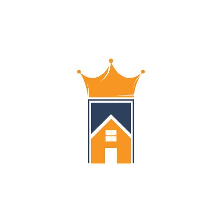 Home king vector logo design. Creative home and crown vector logo design concept. Banque d'images - 148652797