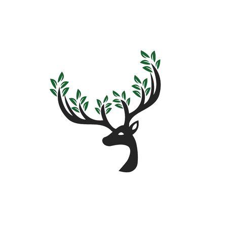 Deer leaf antlers design.