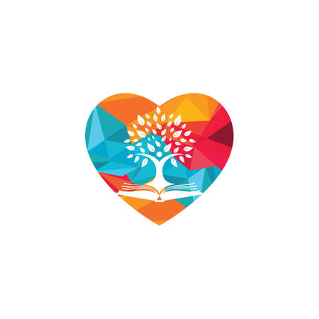 Human tree design. Leader education logo design.