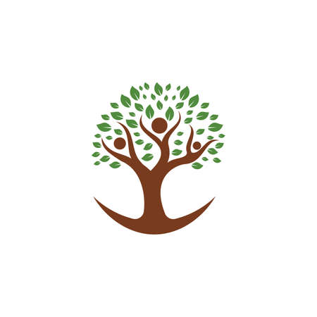 Creative People Tree Concept Design Template.