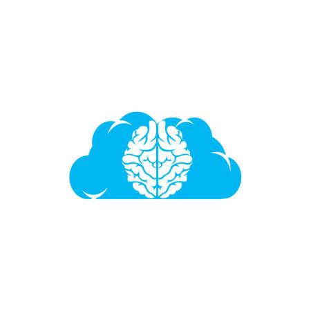 Cloud brain design vector icon. Digital brain .  イラスト・ベクター素材
