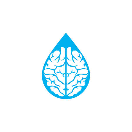 Drop brain template vector icon design  イラスト・ベクター素材