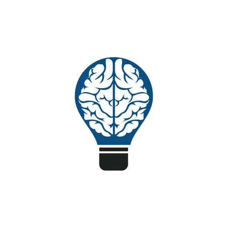 Bulb and brain design. Creative light bulb idea brain vector icon.
