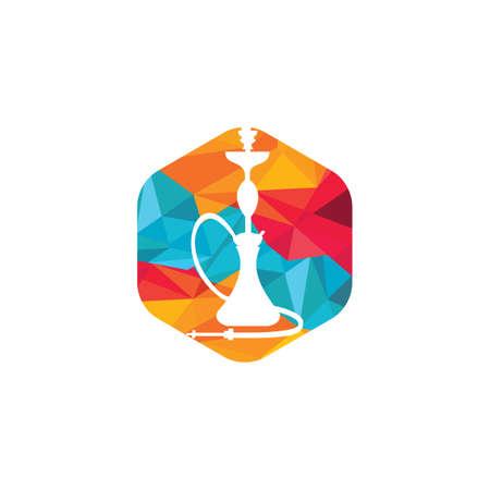 Hookah design. Vintage sheesha . Lounge cafe emblem. Arabian bar or house, shop vector design template.