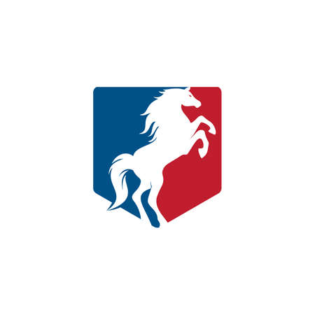 Horse vector logo design. Horse racing logo design. Illustration