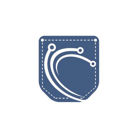 Pocket Technology vector logo design.