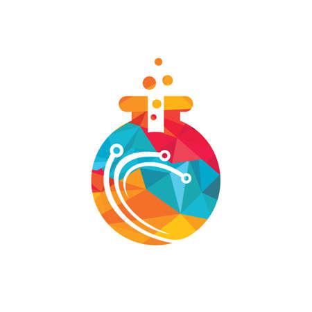 Tech lab vector logo design. Modern Lab logo template. 向量圖像
