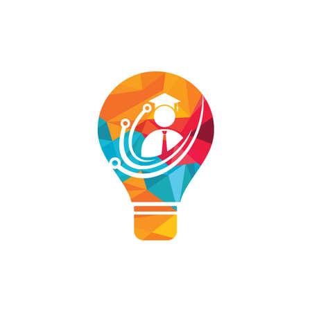 Education tech vector logo design. Digital school logo concept. Stock Illustratie