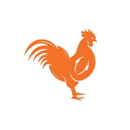 Rooster vector logo design. 向量圖像