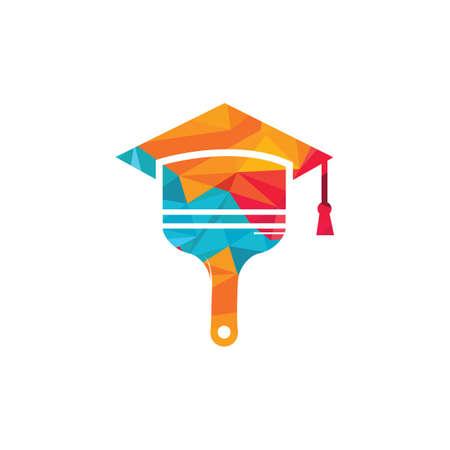 School paint vector logo design.  イラスト・ベクター素材