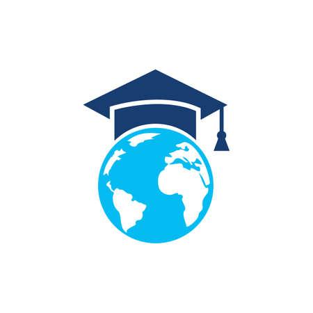 World education logo design. Modern education logo design inspiration.