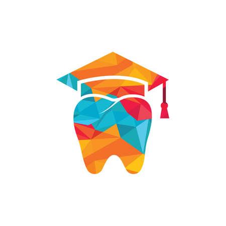 Dental study vector logo design. Dental university logo design template.