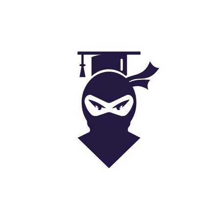 Smart ninja modern education vector logo design. Logo