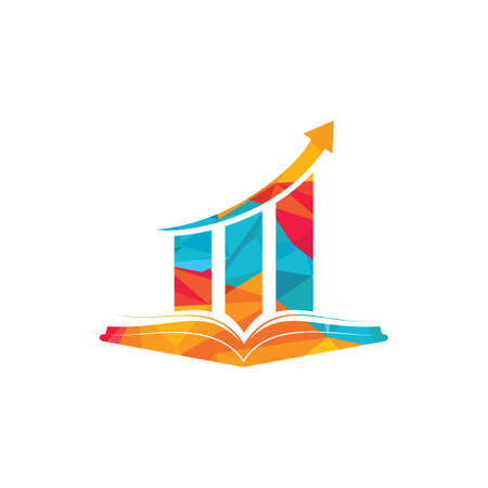 Finance book logo design. Business growth education logo design. Illusztráció