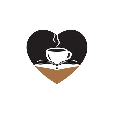 Coffee book with heart shape design. Tea Book Store Iconic.