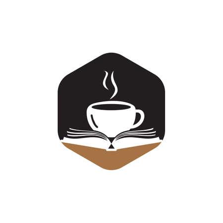Coffee book design. Tea Book Store icon.