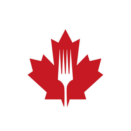 Creative and modern Canadian restaurant or kitchen logo design.