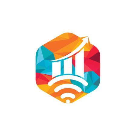 Wifi Statistic vector icon design.